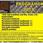 Véget ért az MPRT tavaszi hangtechnikai programja, folytatás ősszel